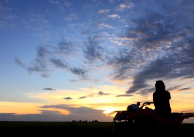 Siem Reap Sunset on Quad