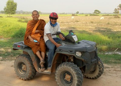 Monk on a Quad