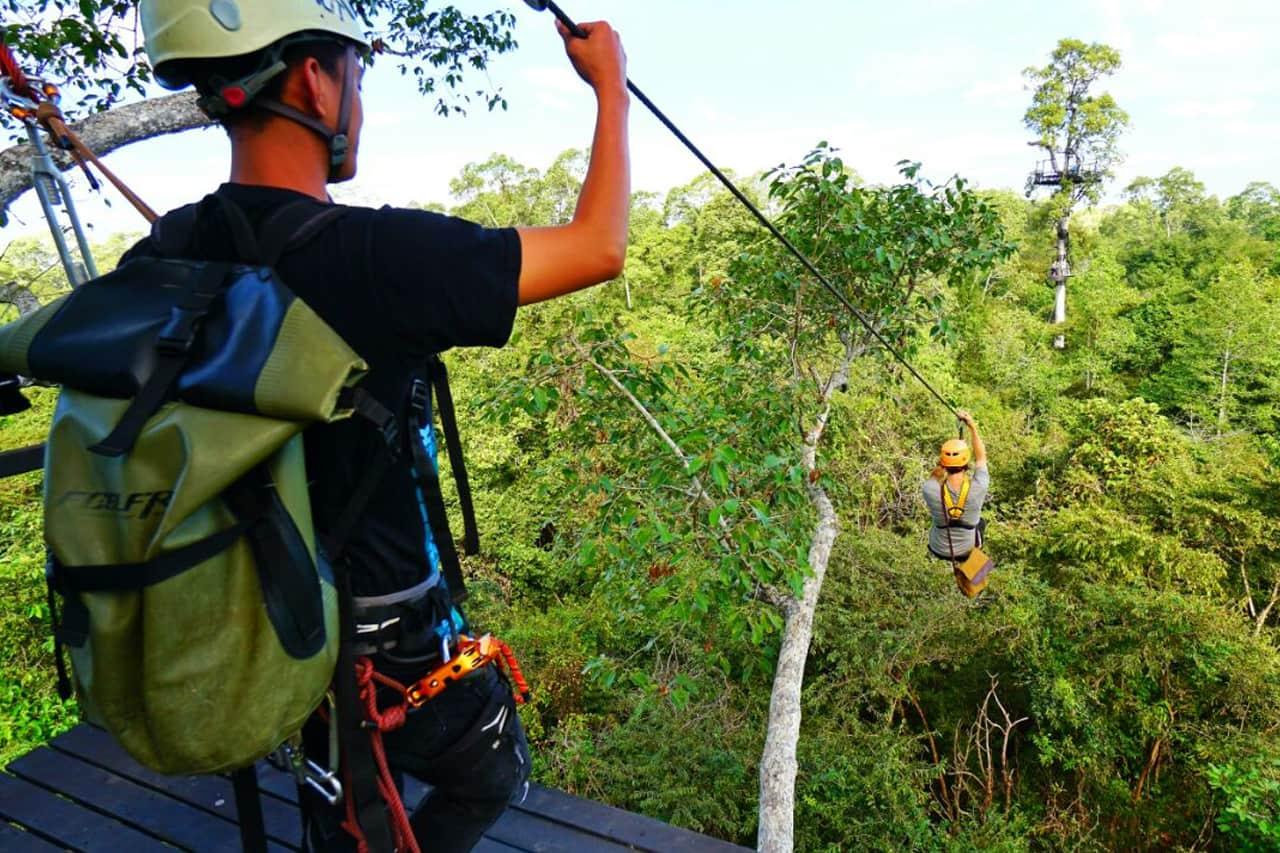 Zipline Quad Adventure Cambodia Siem Reap Atv